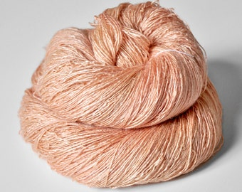 Old flamingo OOAK - Tussah Silk Lace Yarn
