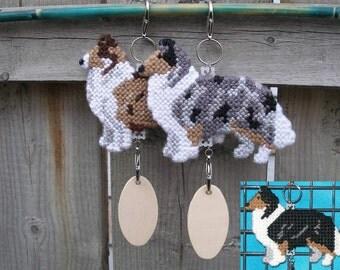 Collie Rough crate tag or hang dog anywhere, collectible accessory decor, Choose your color, Magnet option