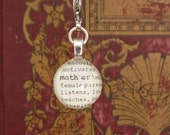 Mother Dictionary Charm for a Bookmark Keychain Necklace Bracelet by Kristin Victoria Designs