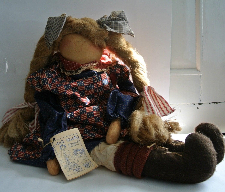 Vintage Attic Babies Doll Yankee Doodle Debbie Primitive
