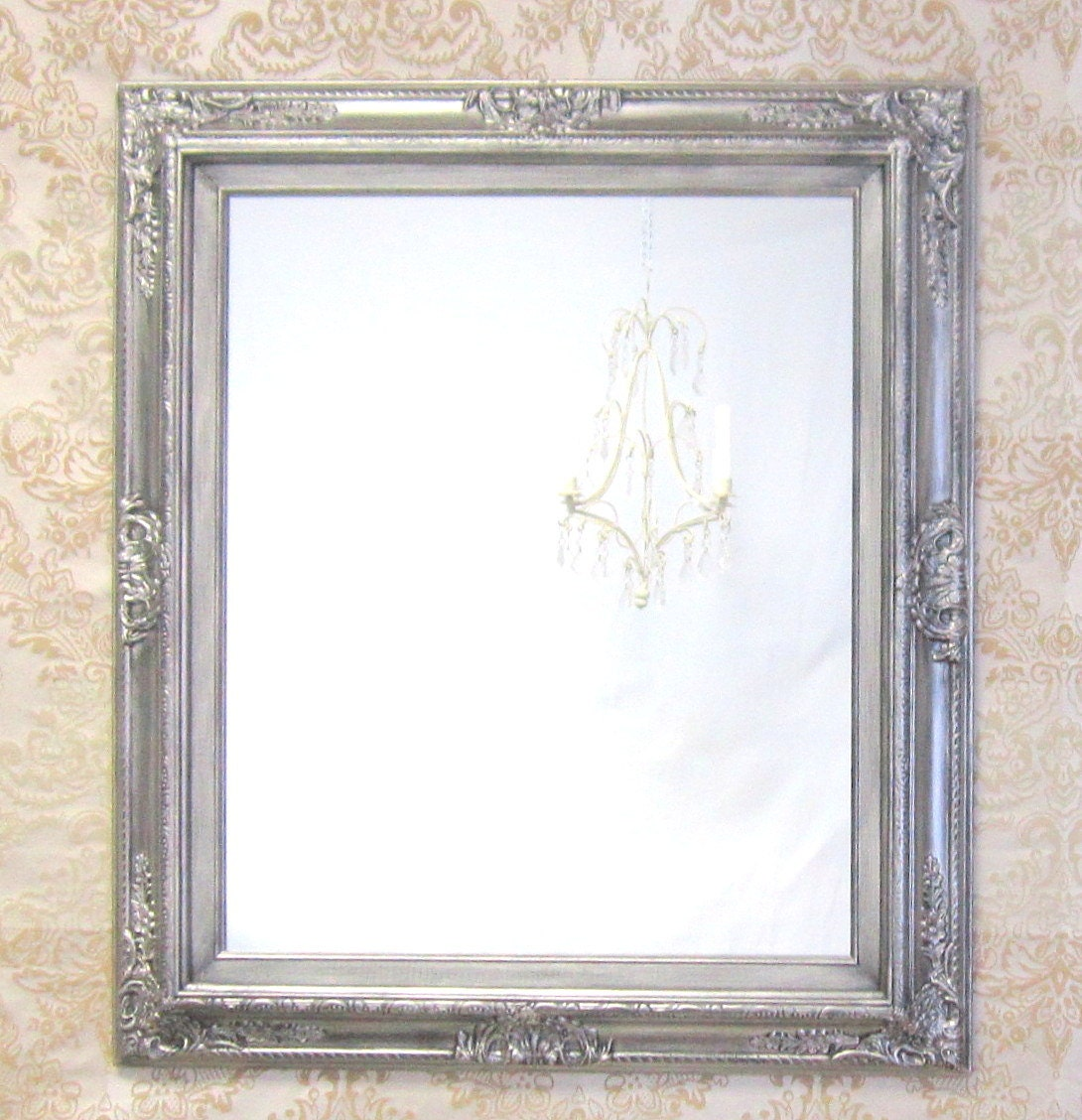 Decorative wall mirrors framed baroque vanity by for Fancy wall mirrors