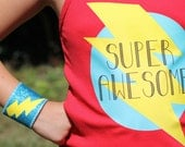 CUSTOMIZED SUPERHERO TSHIRT Transfer - Choose your own Super Phrase or Superhero - Iron-on Decal - Diy Persoanlized Gift