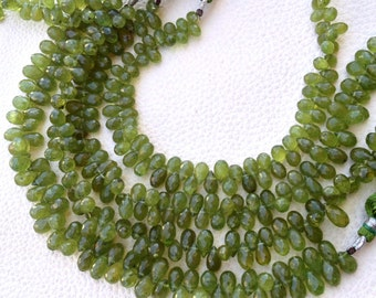AMAZING Rare  GREEN Grossular Garnet Micro Faceted Drops, 8-8.50mm aprx.Great Quality,Limited Quantity