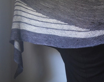 DECIBEL Shawl Knitting Pattern PDF