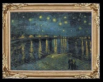 Van Gogh Miniature Dollhouse Art Picture 6724