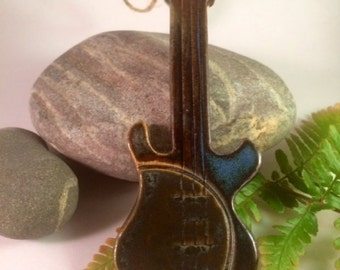 Pottery Electric Guitar Ornament