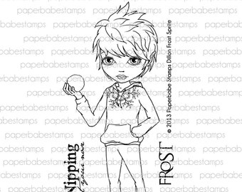 Dillon Frost Sprite - Paperbabe Stamps - Clear Photopolymer Stamps - For paper crafting and scrapbooking.