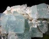 Super Large Aquamarine and Clear Quartz Crystal Cluster