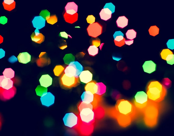 Holiday Art Fine Art Photo Bokeh Christmas Lights Xmas