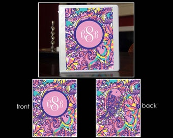 SBS~Personalized Monogram Notebook Insert for 3 Ring Binder or Printable