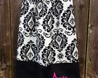 Black and White Damask Dress