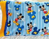 Mickey Mouse Childrens or Travel  Pillow Case