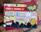 Printable Superhero Kid Party Invitation