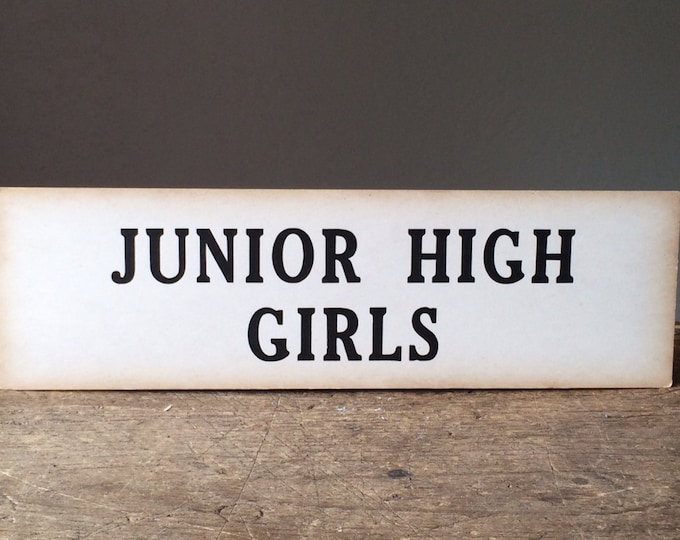 Junior High Girls Vintage Sign Wall Decor Great Graphics
