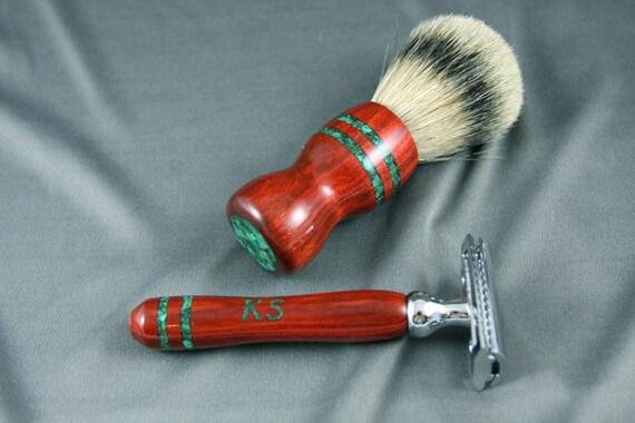 Engraved De Double Edge Safety Razor Men S Shaving Kit By