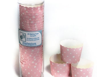 Baking Cups Pink Dots-set of 25