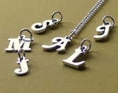 Initial necklace Sterling silver letter necklace custom monogram personalized necklace jewelry