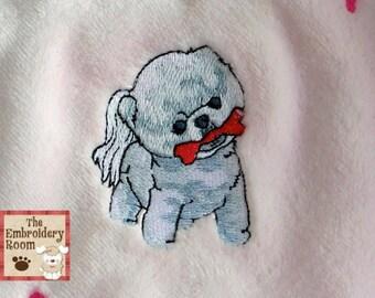 Pomeranian Cuteness -  Custom Embroidered Pet Blanket