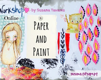 Workshop online - Paper and paint - journaling mixed media art