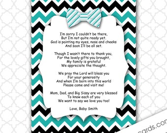 printable baby shower thank you poems