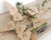 Happy Christmas Sprout Mini Bunting Kit