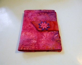 Raspberry Sunflower Batik Paperwhite/Kindle Touch Cover