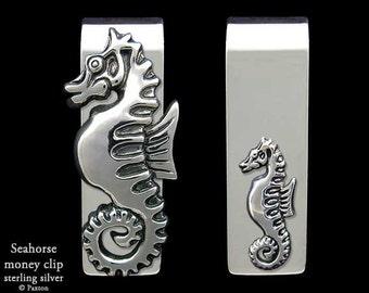 Seahorse Money Clip Sterling Silver
