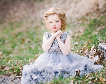 I Love That Silver Dress...A Satin Rosette And Feather Dress