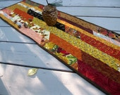 Celebrate Autumn 13x42 brightly colored quilted tablerunner