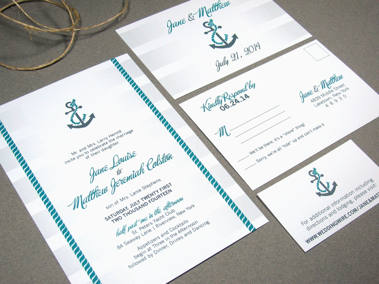 nautical wedding invitations etsy - 28 images - nautical themed ...