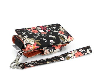 The Errand Runner - Cell Phone Wallet - Wristlet - for iPhone/Android - Femme Metale/Terra Cotta