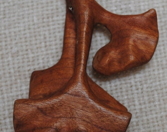 Gingko leaf group pendent made of cherry wood