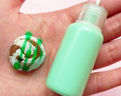 Deco Sauce (Dark Green / Kiwi / Mint) Kawaii Miniature Sweets Dessert Ice Cream Cupcake Topping Cell Phone Deco Scrapbooking Decoden DS033