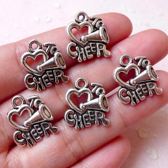 Cheer Charm Bracelets: Love To Cheer Charms Cheerleader Megaphone Charm By