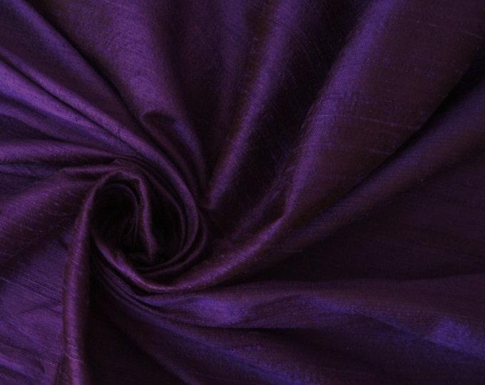 Sapphire Purple 100% Dupioni Silk Fabric Wholesale Roll/ Bolt