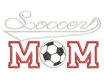 Soccer Mom Applique Design