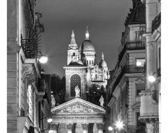 Paris Is Always a Good Idea, Hepburn, Sacre Coeur, Literature Poster, Fine Art Poster, Black and White Graphic Print, Paris Decor