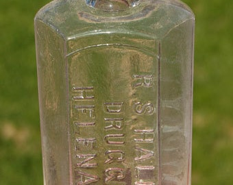 Extreme Pristine 1880's MONTANA Territory bottle R.S. Hale Druggist HELENA  M .T.