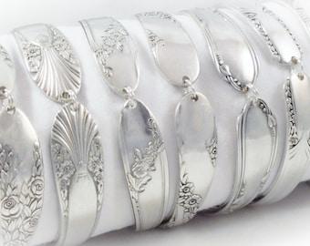 9 Bridesmaids Bracelets, FREE ENGRAVING, Set of 9, Bridesmaids Gifts, Bridesmaid Jewelry, Spoon Bracelet, Spoon Jewelry, Vintage Wedding