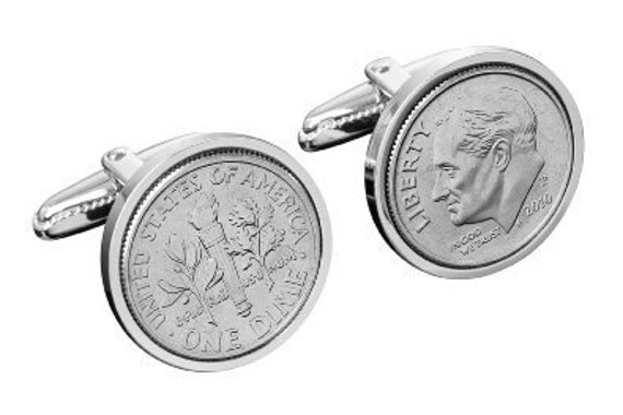 25th Anniversary Gifts For Men: 25th Wedding Anniversary Gift For Men-1992 Coin Cufflinks