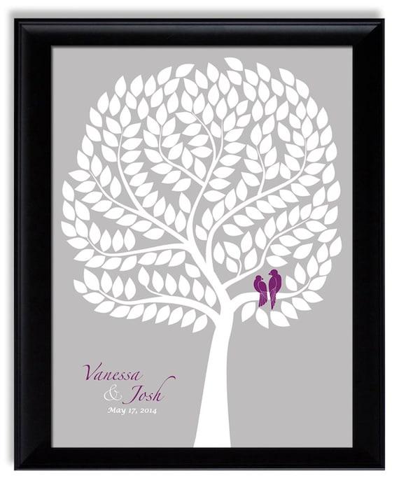 Wedding Guestbook Alternative Modern Guest book tree with love birds Original Guest Book Ideas Unique Guest Book Alternative Wedding Poster