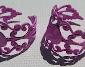 2PCS - Filigree Ring Blanks - 10mm Blank Pad - Pink