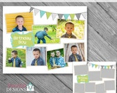 Instant Download 16x20 Storyboard Collection 2, Collage 16 - custom 16x20 and 8x10 photo collage/storyboard template