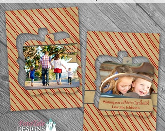 Holiday - Believe Luxe Pop Christmas Card No. 1 - 5x7 photo card templates for photographers on Millers Lab Specs