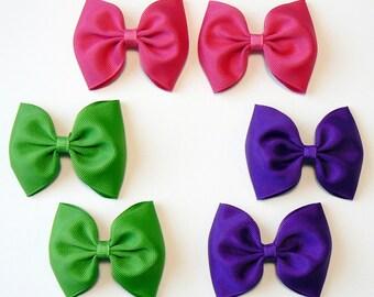 Girls Hair Bow Set Childrens Kids Boutique  Fashion Hair Clip Hairbows Hair Accessories (Set of 6) Choose Colors