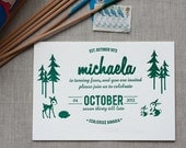 Forest Friends - 40th Birthday Invitation (min. 50 qty)