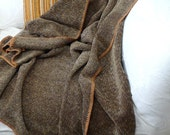 Smoke Brown Rayon Cotton Chenille Throw Blanket