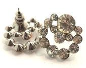NOS Vintage Rhinestone earrings/ deadstock never used