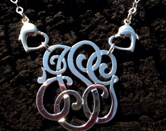Sterling Silver Monogram Charm for Ring My Neck Necklace