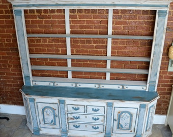 SOLD// Hand Painted, Chalk Paint, Annie Sloan,  Heritage Buffet